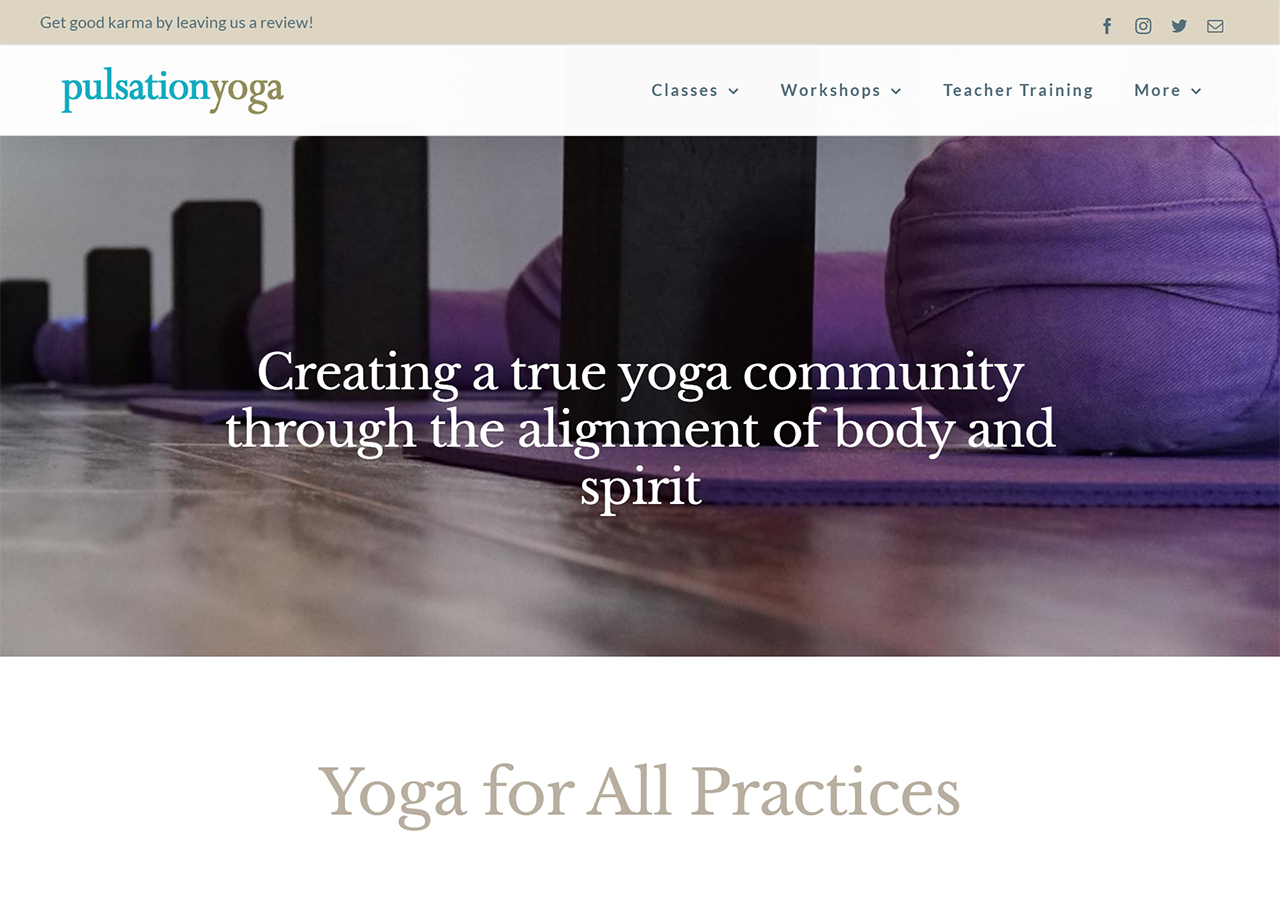 Pulsation Yoga home page