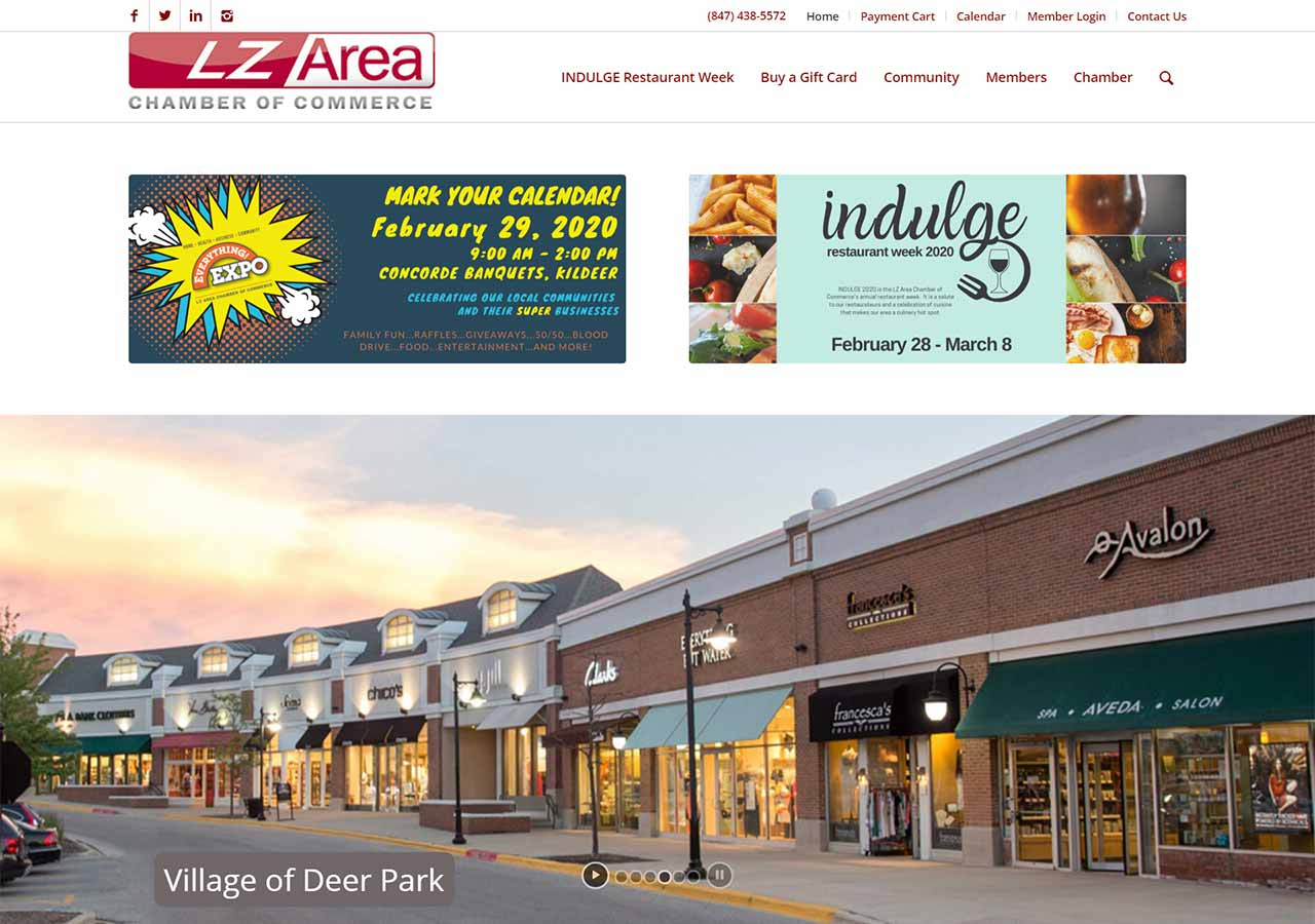 LZ Area Chamber of Commerce home page
