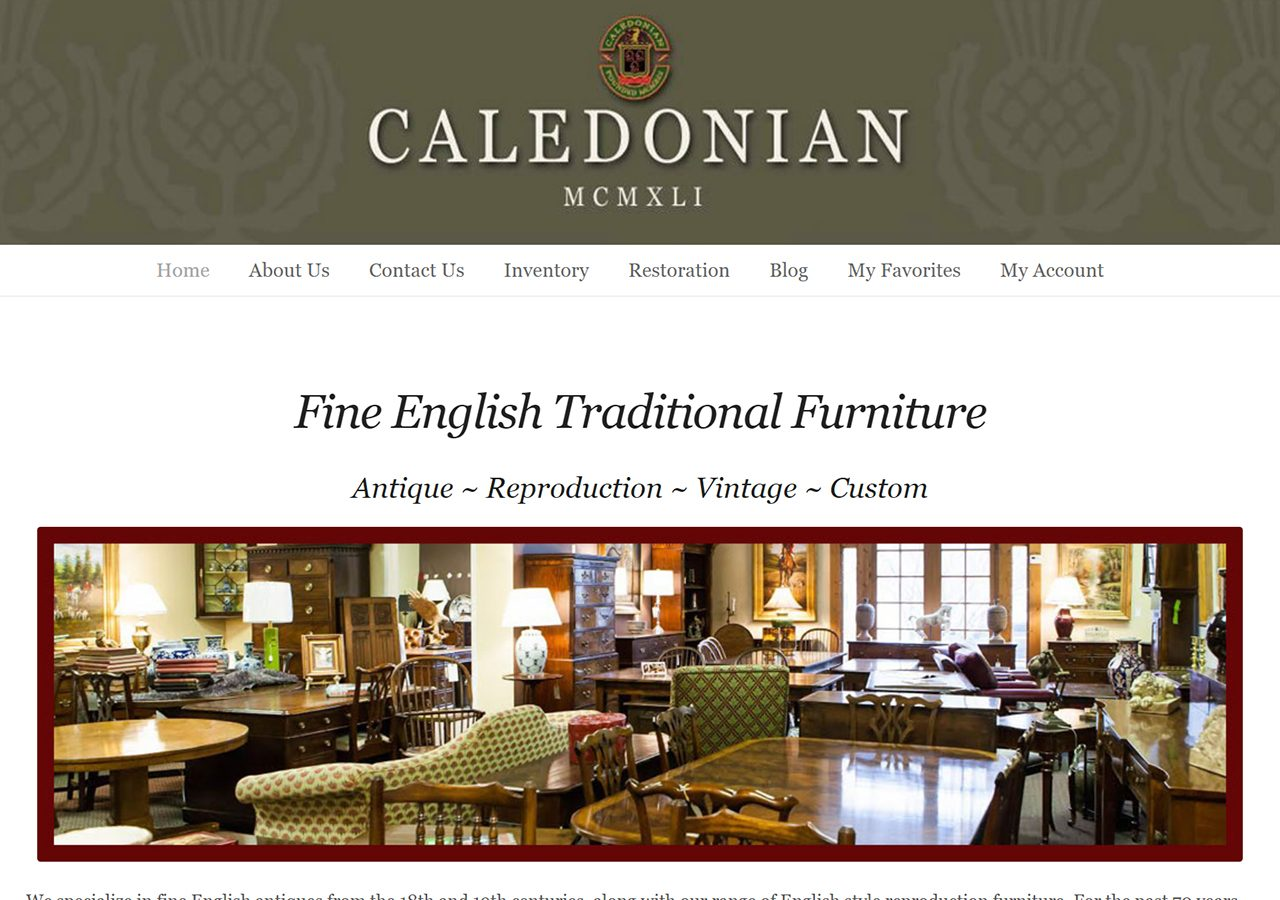 Caledonian Antiques home page