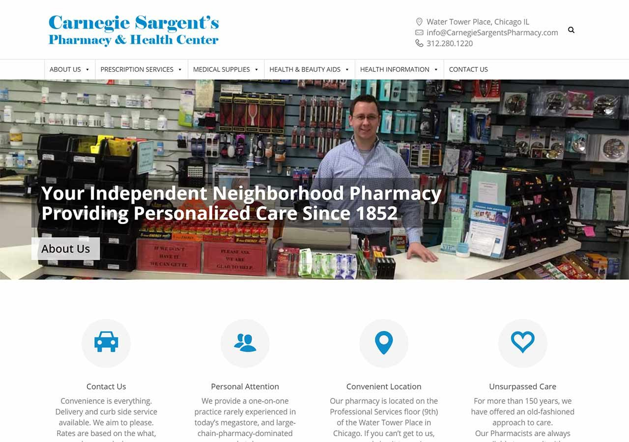 Carnegie Sargent's Pharmacy home page