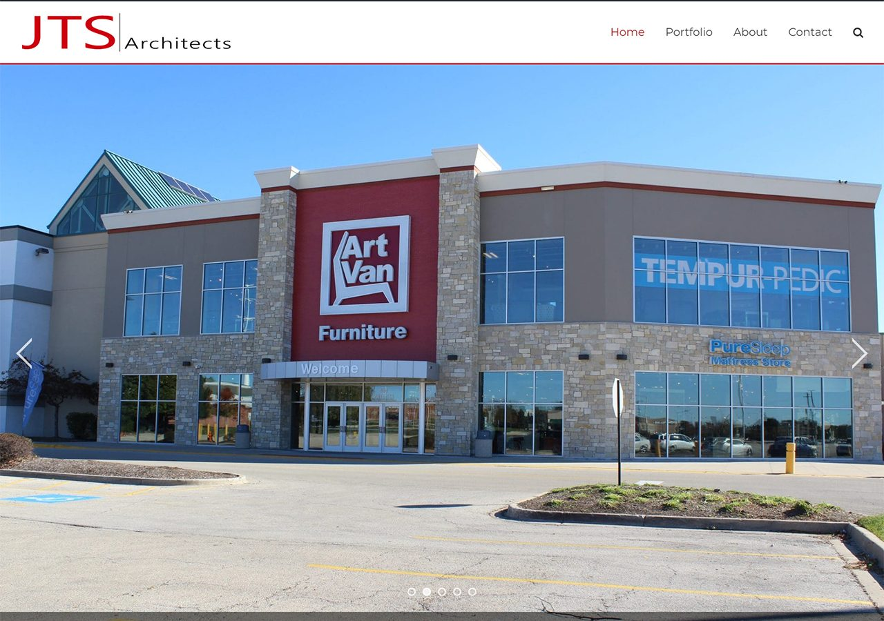 JTS Architects website home page